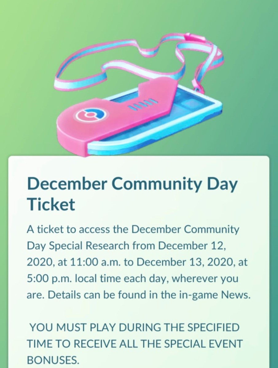 December Community Day 2020 Special Research story now ...