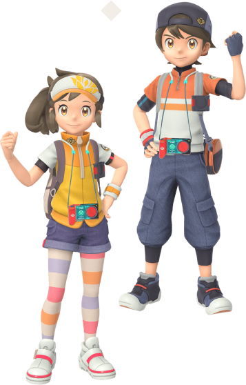female_and_male_main_player_characters_new_pokemon_snap
