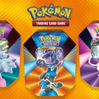Full content details revealed for new Pokémon TCG: V Forces Tins featuring Galarian Slowbro V, Lucario V and Mew V