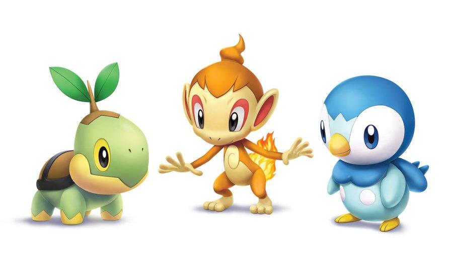Turtwig, Chimchar and Piplup are the three starter Pokémon of the Sinnoh  region in Pokémon Brilliant Diamond and Shining Pearl | Pokémon Blog