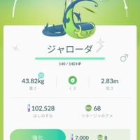 Pokémon GO screenshot of Shiny Serperior with the Pokémon GO Community Day exclusive move Frenzy Plant