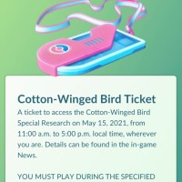Tickets for the Cotton-Winged Bird Special Research story now available to purchase for Swablu Pokémon GO Community Day