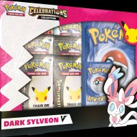 New Pokémon TCG: Celebrations collection consists of nine products launching in October 2021 featuring Dragapult Prime, Lance's Charizard V, Dark Sylveon V, Pikachu V-UNION and more